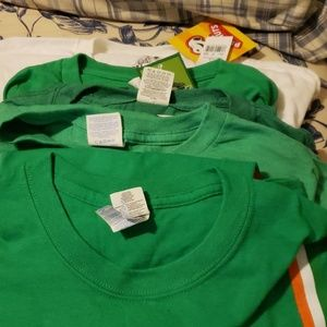 Lot of 5 - 4  Xl St Patrick's Day 1- Halloween Ts